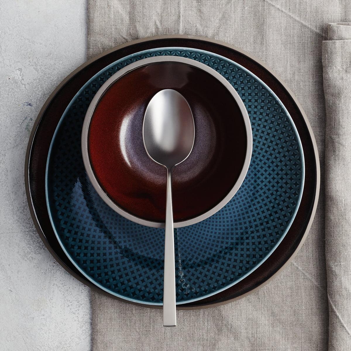 junto stoneware in slate gray by rosenthal. Black Bedroom Furniture Sets. Home Design Ideas