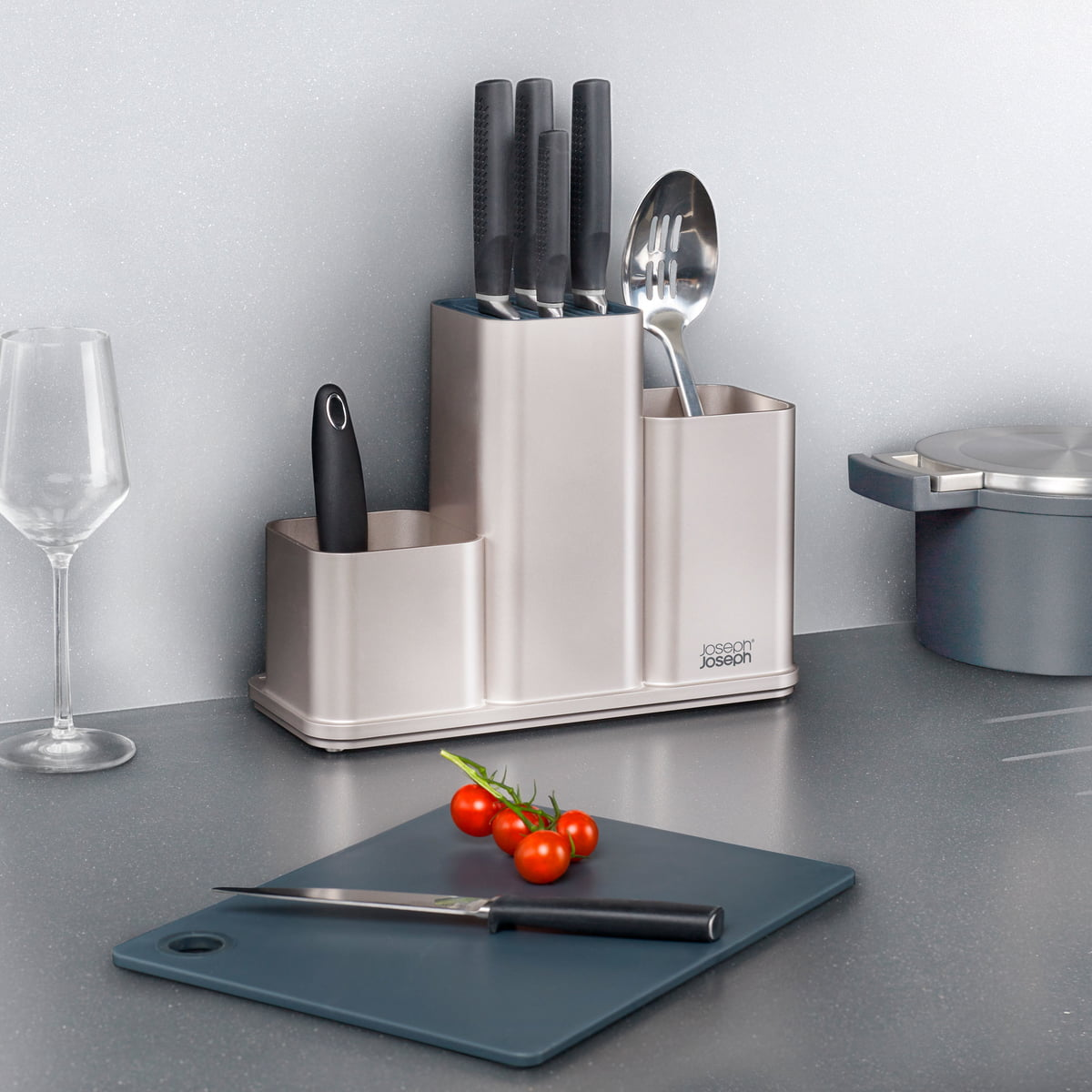 CounterStore Kitchen Worktop Organiser with Chopping Board by ...