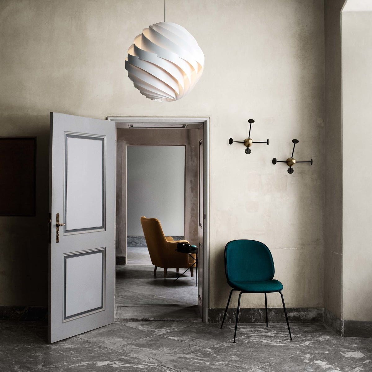 the turbo pendant lamp by gubi in the shop. Black Bedroom Furniture Sets. Home Design Ideas
