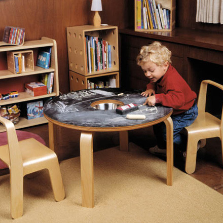 Creative Fun with the Offi Children's Woody Chalkboard Table