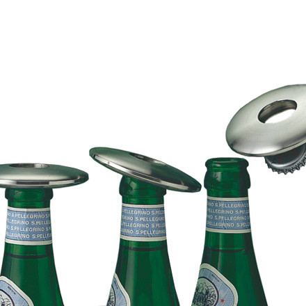 Disc bottle opener