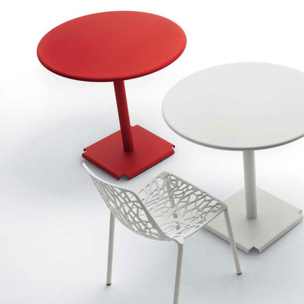 Fast - Forest stackable chair white, with tables