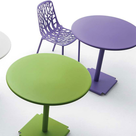 Fast - Forest stackable chair purple, with tables