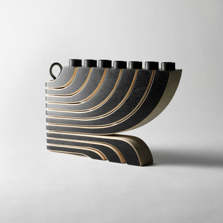 Nordic Light 7 Arms Candle Holder by Design House Stockholm in black