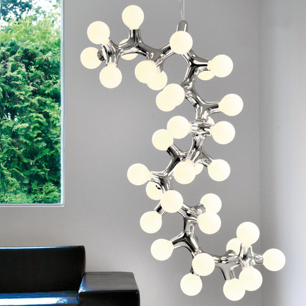 Next DNA Pendant Lamp - individual configuration in chrome