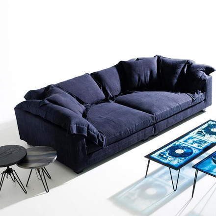 Diesel Nebula couch with Overdyed coffee table