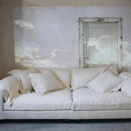 Diesel Nebula couch, white bone