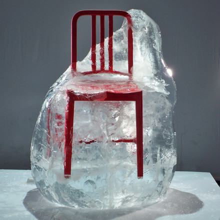 Emeco - 111 Navy Coca-Cola Chair in ice cube