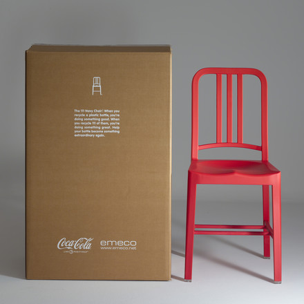 Emeco - 111 Navy Coca-Cola Chair with packaging