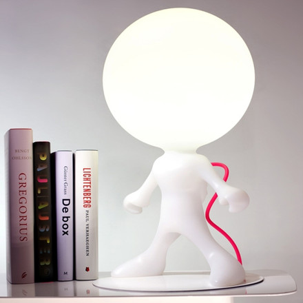 Dark - Spacewalker Junior table lamp made of white plastic