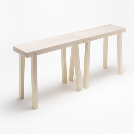 side by side - Schemel benchstool maple, group