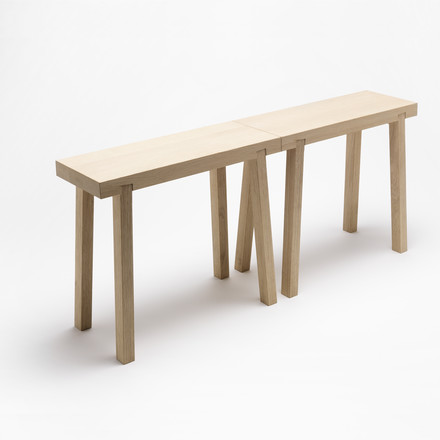 side by side - Schemel footstool, duo in oak wood