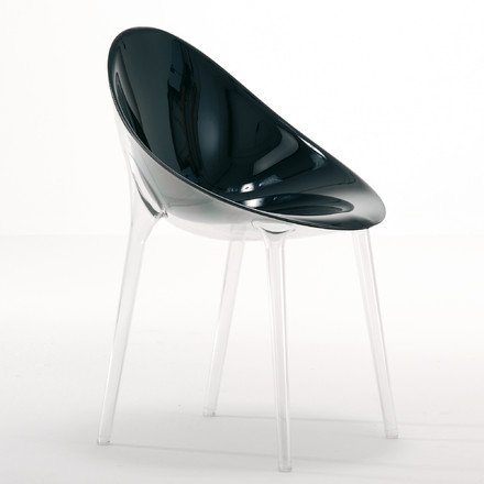 Kartell - Mr. Impossible Chair, transparent / black