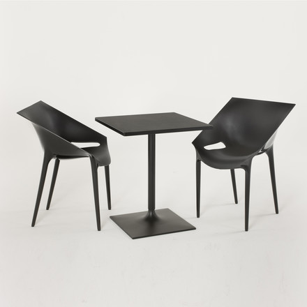 Group image: Dr. Yes Chair, black with table