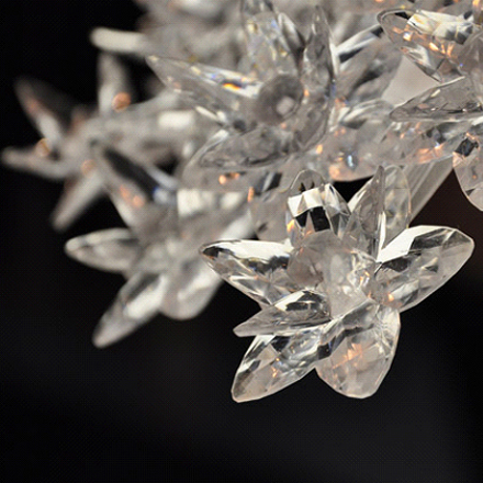 details of the blossoms of the Bloom Pendant Lamp