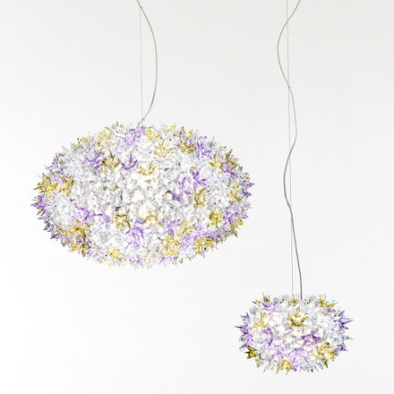 Group image: both sizes of the Bloom Pendant Lamp, lavender