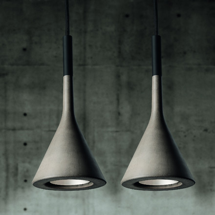 Foscarini - Aplomb Pendant Lamp grey, duo side by side