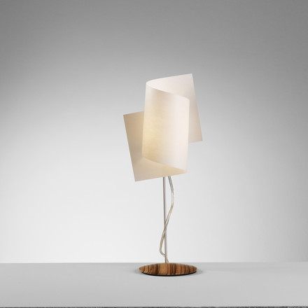 Domus - Loop Table Lamp, Zebrano