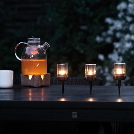 Menu - Pipe Hurricane Tea Light Holder - vertical