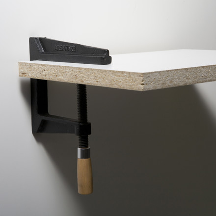 areaware - Wall Clamp Shelf made of cast iron and wood