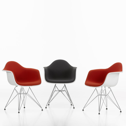 Eames Plastic Armchair DAR - Fully Upholstered