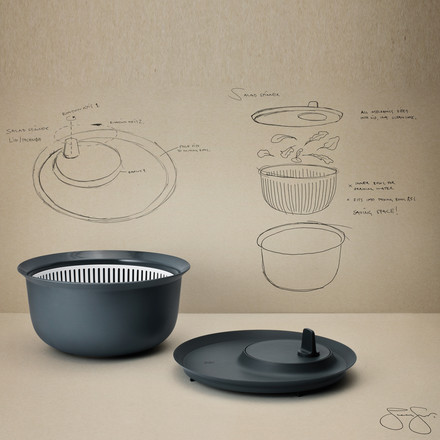 Rig-Tig by Stelton - Salad Spinner for Mixing Bowl 3.5 l