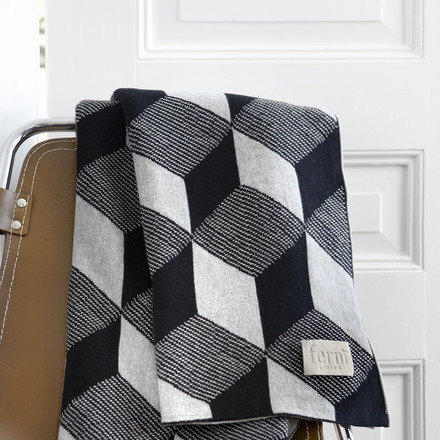 Knitted Blanket Squares by ferm Living in Grey