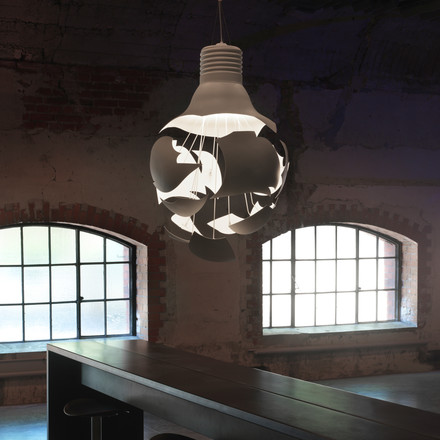 northernlighting - Scheisse pendant lamp, white, atmosphere image, loft