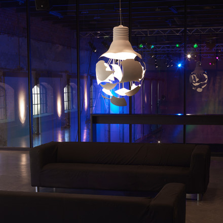 northernlighting - Scheisse pendant lamp, white, atmosphere image, club, disco