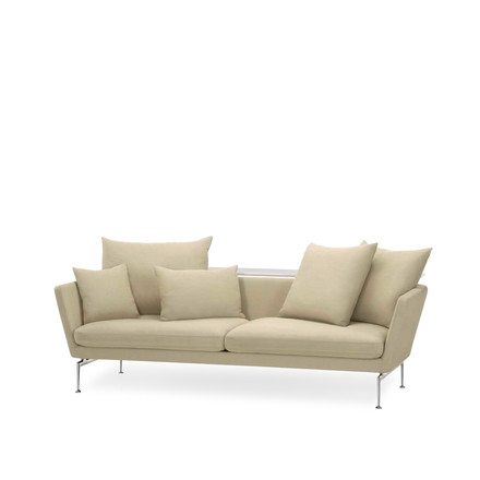 Vitra - Suita Sofa - two-seater with classic cushions and shelf-board