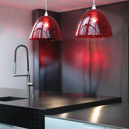 Koziol - Stella S pendant lamp, red, kitchen, atmosphere image