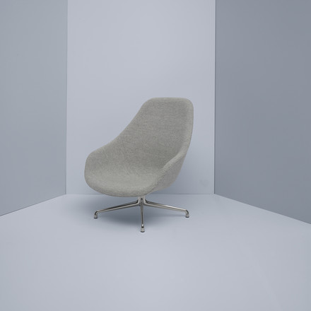 Hay - About A Lounge Chair, High / AAL 91, Remix light gray (123