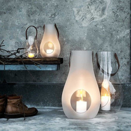 Holmegaard - Design With Light Lantern, 45cm, weiß