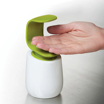 Joseph Joseph - C-pump soap dispenser, white/ green - use