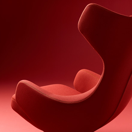 Vitra - Grand Repos Sessel, Credo red chilli/ polish