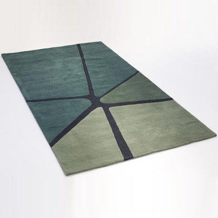 Ruckstuhl - Crack carpet, sea green