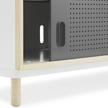 Normann Copenhagen - Kabino Sideboard, grey - edge, single image