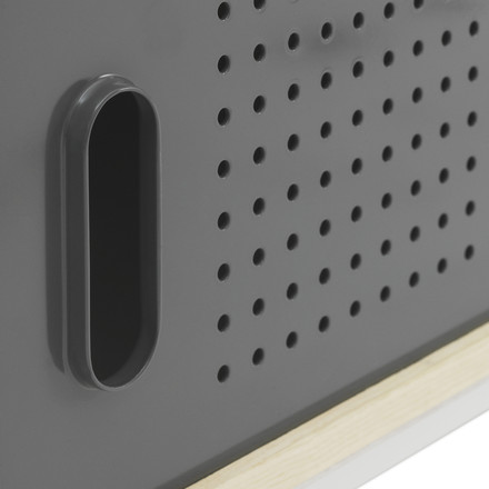 Normann Copenhagen - Kabino Sideboard, grey - handle, door, details image