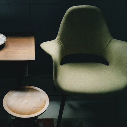 Vitra - Organic Chair, green / black ash wood