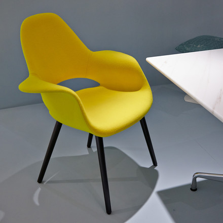 Vitra - Organic Conference Chair, yellow / black ash wood