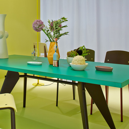Vitra - EM Table, turquoise/ black - fair