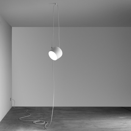 Flos - AIM Pendant Lamp white, cable+plug