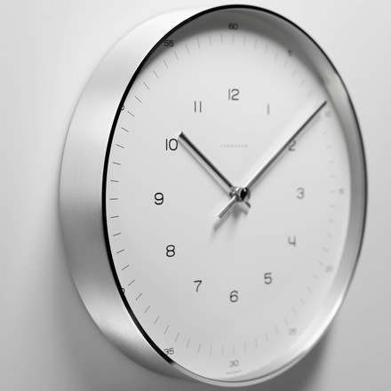 Max Bill Wall Clocks, Number - hanging at wall