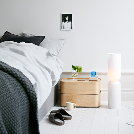 Iittala, Lantern Lamp / Ambience image - besides the bed