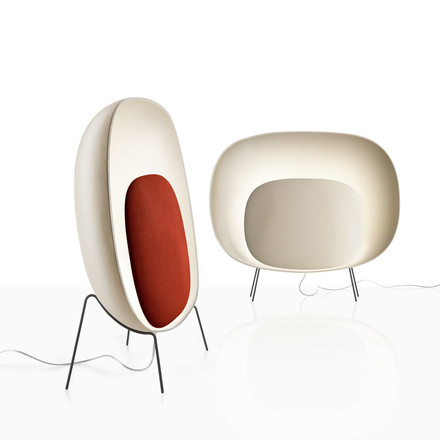 Foscarini - Stewie Floor Lamp, ivory, red
