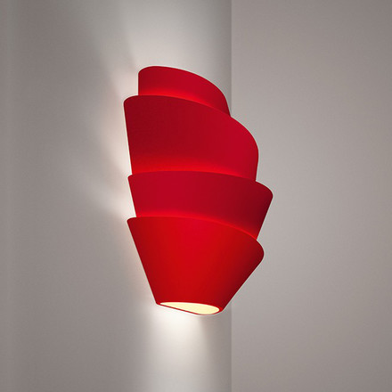 Foscarini - Le Soleil wall lamp, red - lateral
