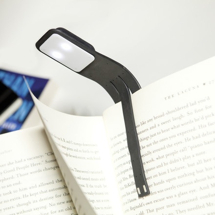 Moleskine - LED Reading Lamp - black, at book
