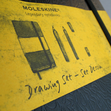 Moleskine - Drawing set - details, envelope