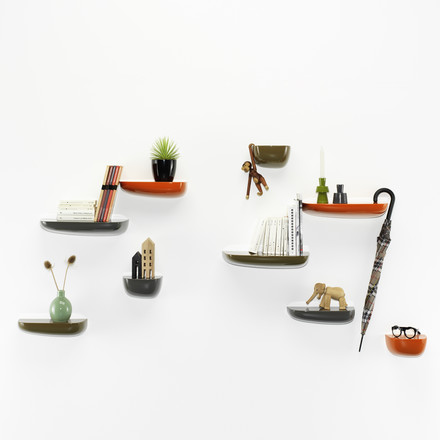 Vitra - Corniches, orange, dark grey, khaki