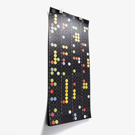 Dotty Edition - dot on 3x4 clip | Four-Month Planner, black
